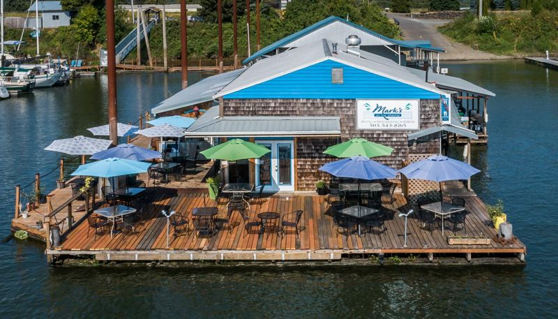 COURTESY PHOTO: MARK'S ON THE CHANNEL - Mark's on the Channel, a restaurant at McCuddy's Marina in Scappoose, is closing this year after nearly two decades.