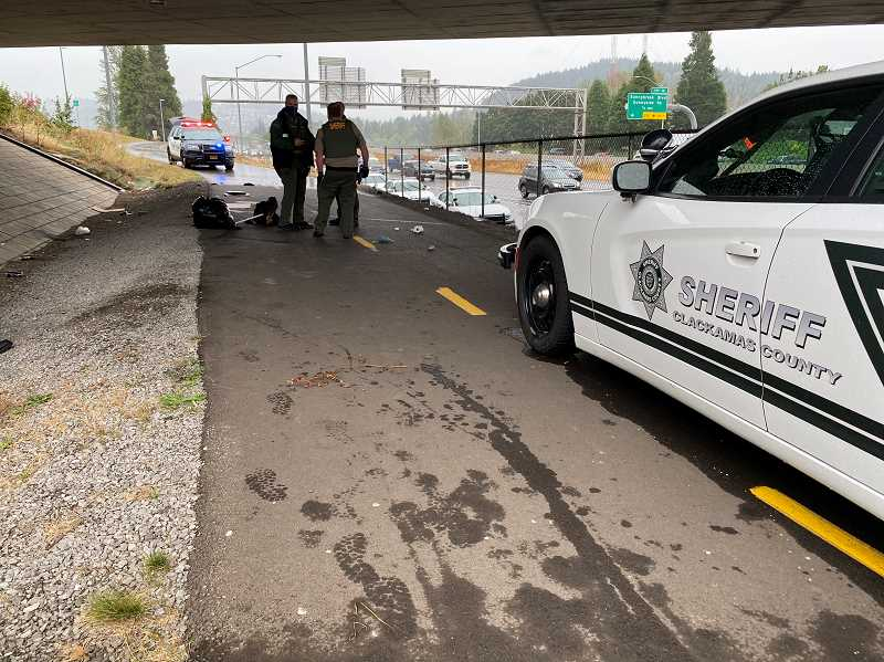 COURTESY PHOTO: CCSO - A man was left with a punctured lung when he was stabbed in the chest on the bike path that runs along Interstate 205.
