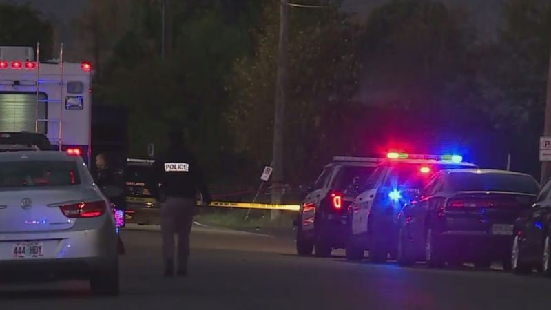 KOIN 6 NEWS - The scene of the Monday morning shooting