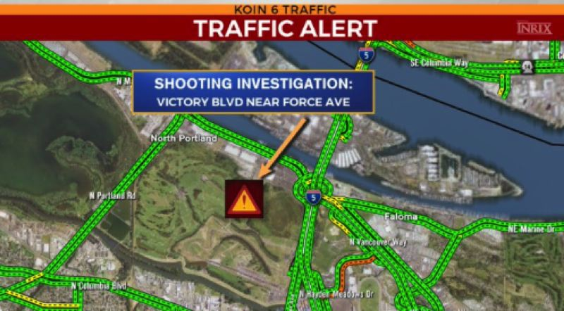 KOIN 6 NEWS - A map of the location of the shooting.