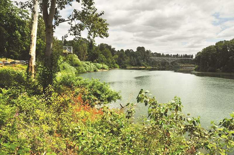 PMG FILE PHOTO - The city of Newberg's riverfront master plan calls for a variety of developments on the bluff above the Willamette River.