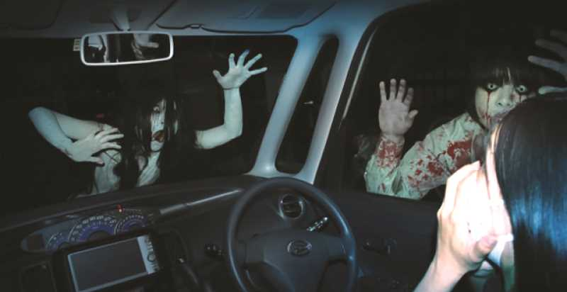 FILE PHOTO - There are four veteran haunted house groups working to help give this year's Scare Fair the proper Halloween vibe. So, who knows what drive-thru visitors may encounter at the fairgrounds.