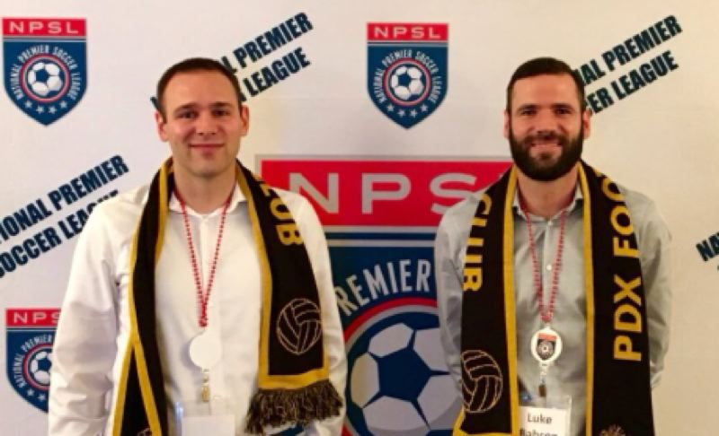 COURTESY PHOTO: LUKE BABSON - Brothers Max (left) and Luke Babson founded PDXFC in 2017 and are now offering public units in the club through and online funding site. They hope to raise $240,000.