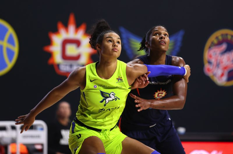 COURTESY PHOTO: NBA ENTERTAINMENT - Former Oregon forward Satou Sabally was named to the WNBA All-Rookie Team. She averaged 13.9 points, 7.8 rebounds and 2.5 assists in 16 games for the Dallas Wings.