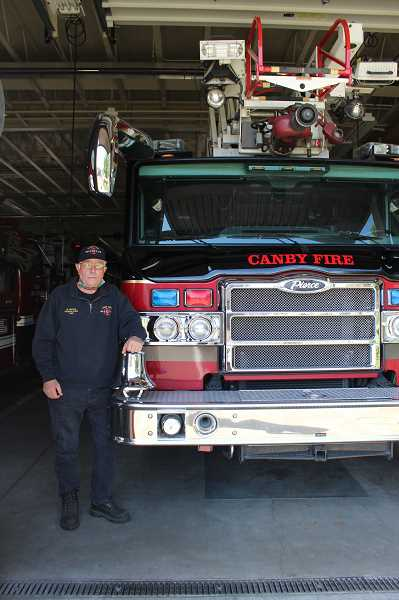 PMG PHOTO: KRISTEN WOHLERS - Wayne Austen has served at Canby Fire for 50 years.
