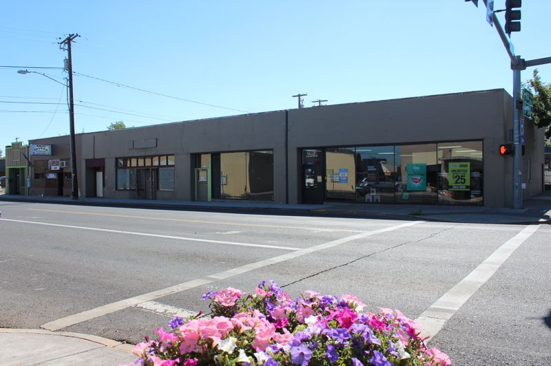 HOLLY SCHOLZ/MADRAS PIONEER - The Metro/PCS building across from Great Earth Natural Foods will be renovated starting this fall, thanks to a package from the Madras Redevelopment Commission.
