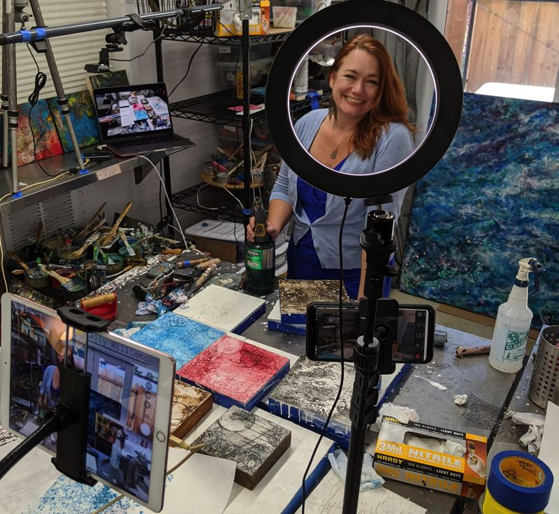 COURTESY PHOTO - Kelly Williams is one of the Portland Open Studios artists who engages people virtually.