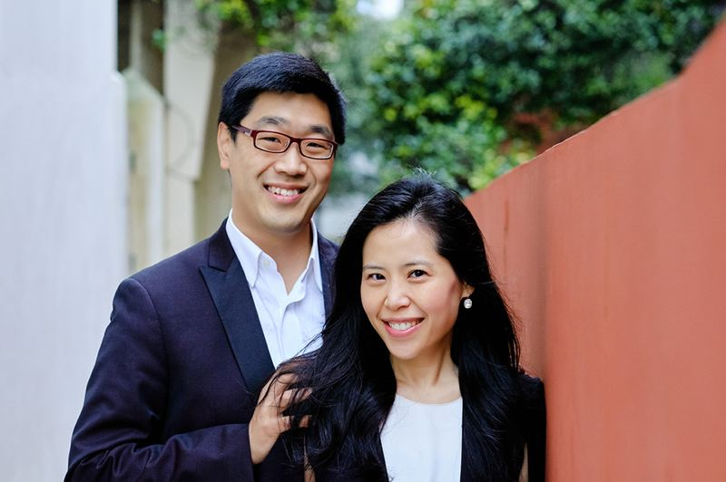 COURTESY PHOTO - Soovin Kim (left) and Gloria Chien are the husband and wife team leading Chamber Music Northwest.