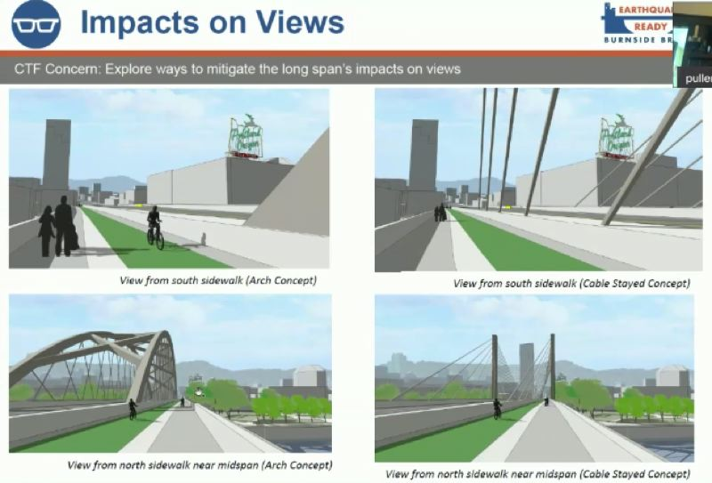 COURTESY PHOTO: MULTNOMAH COUNTY - The public wants the Burnside Bridge replacement to preserve sight lines of the city.