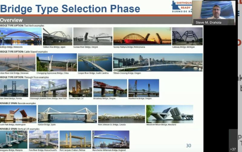 COURTESY PHOTO: MULTNOMAH COUNTY - Design of the Burnside Bridge will happen in 2021. Here are some possible models.