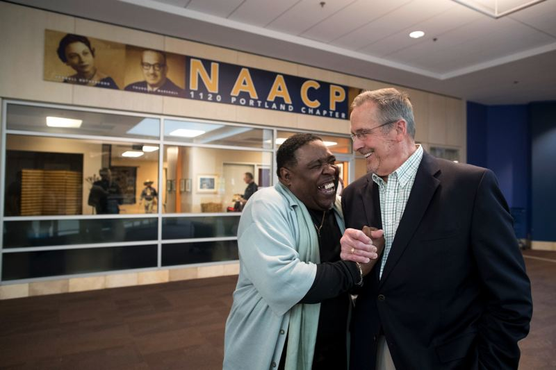 FILE - E.D. Mondaine, the president of the Portland NAACP, has expanded the chapter's physical presence and increased membership. But his leadership style has also drawn allegations of bullying and misconduct.
