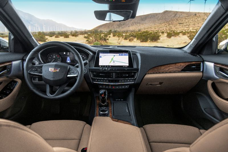 COURTESY CADILLAC - The interior of the 2020 Cadillac CT5 Premium Luxury is thoroughly modern and high tech.