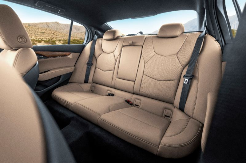 COURTESY CADILLAC - The rear seats in the 2020 Cadillac CT5 are very roomy for a midsize sedan.