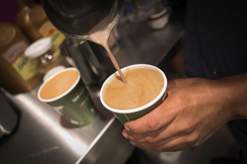 PMG PHOTO: JAIME VALDEZ - A champurrado is a traditional pre-Hispanic coffee drink commonly served in Latin America.