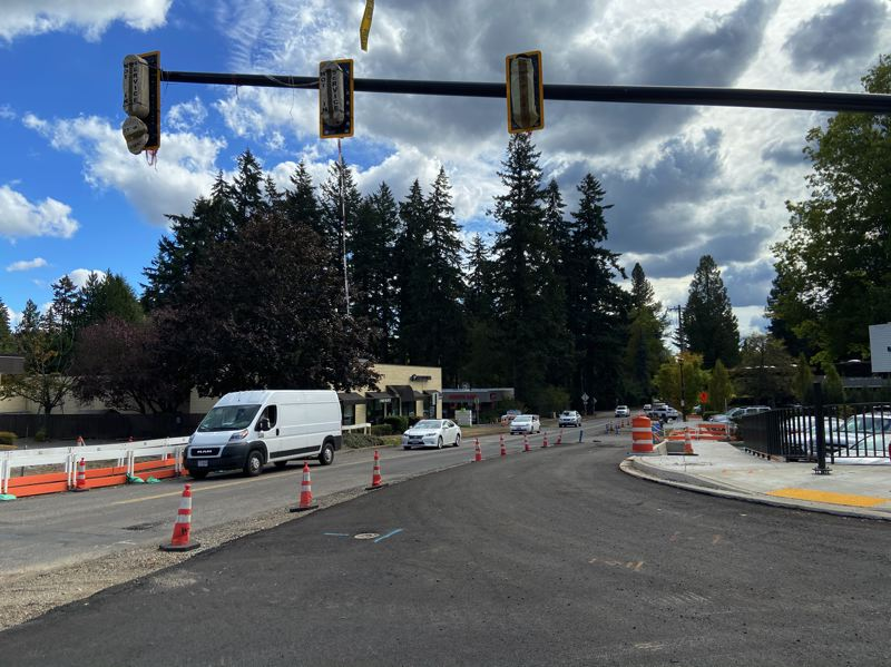 COURTESY PHOTO: CITY OF LAKE OSWEGO - Traffic shifts are occuring starting this week between Madrona Street and Bryant Road.