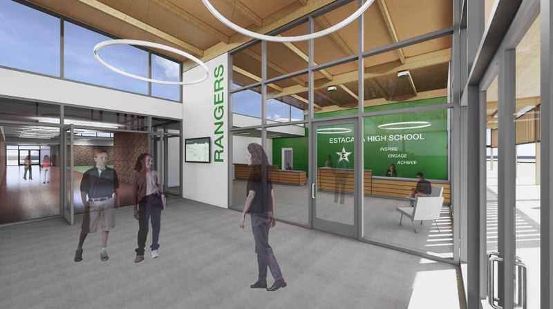 COURTESY PHOTO: ESTACADA SCHOOL DISTRICT - One project in the Estacada School District's proposed $22.9 million general obligation bond would move the high school office to the front of the building.