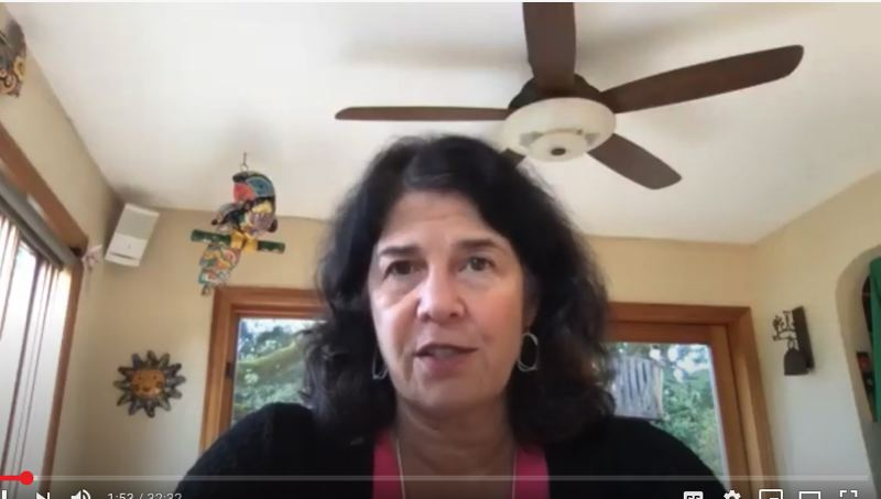 COURTESY: MULTNOMAH COUNTY/YOUTUBE - Zooming from home and archived on YouTube, Multnomah County Commissioner Dr. Sharon Meieran talked about the need for high speed Internet as a utility rather than a luxury.