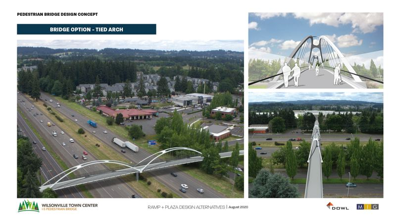 COURTESY PHOTO: CITY OF WILSONVILLE - Wilsonville City Council chose a tied-arch bridge design for the I-5 bicycle and pedestrian bridge during a meeting Monday, Oct. 5.