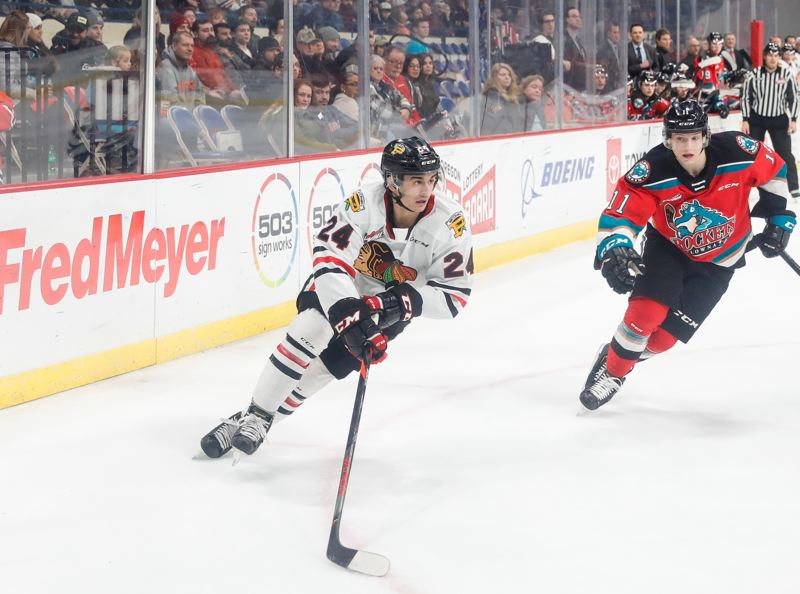 COURTESY PHOTO: PORTLAND WINTERHAWKS/KEITH DWIGGINS - Portland Winterhawks center Seth Jarvis was selected Tuesday with the 13th pick in the 2020 NHL Draft.