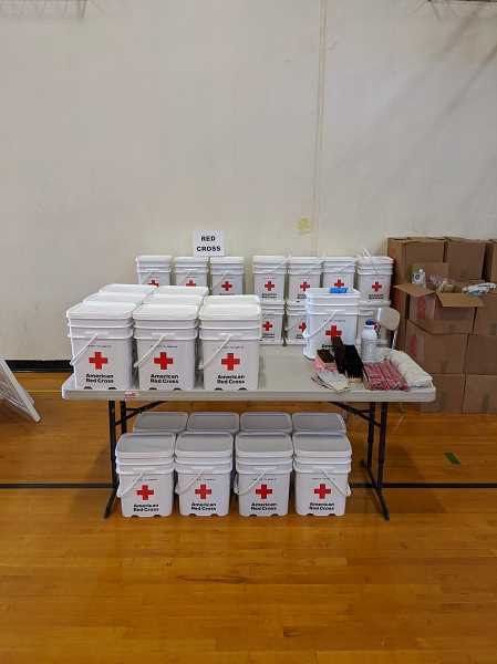 COURTESY PHOTO: PAIGE JURGENSEN - The Red Cross has clean-up kits available this week.
