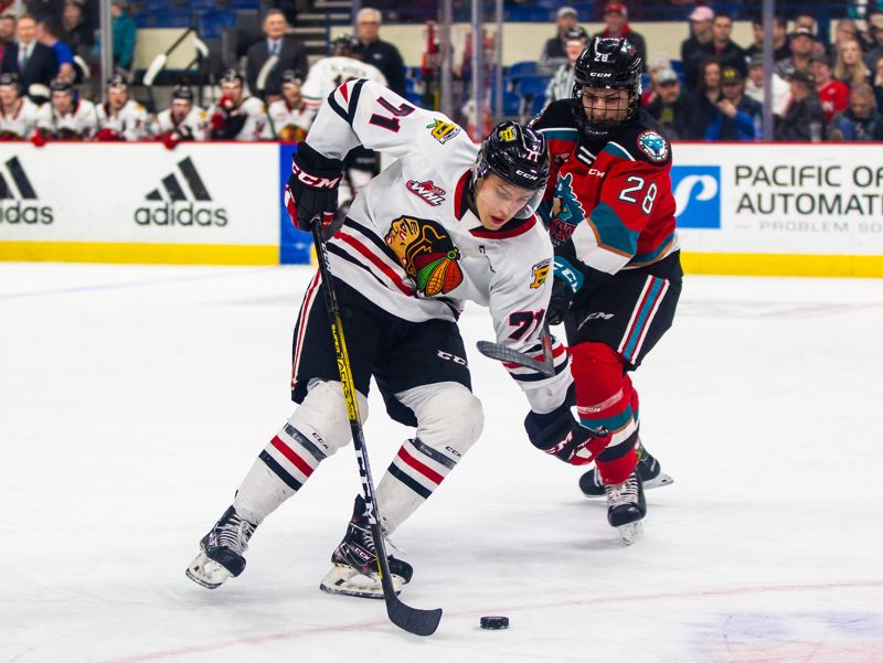 COURTESY PHOTO: PORTLAND WINTERHAWKS/KEITH DWIGGINS - Portland Winterhawks forward Cross Hanas was taken by the Detroit Red Wings with the 55th pick in the NHL Draft.
