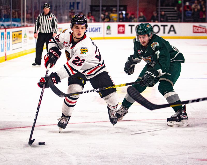 COURTESY PHOTO: PORTLAND WINTERHAWKS/MEGAN CONNELLY - Portland Winterhawks forward Jaydon Dureau was taken in the sixth round of the NHL Draft by the Tampa Bay Lightning.
