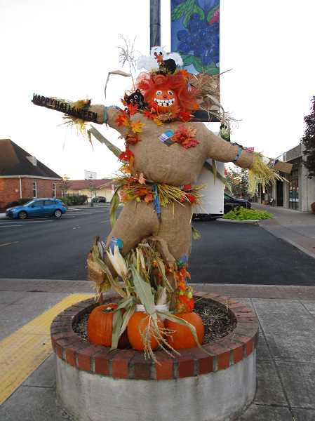 PMG FILE PHOTO: DEBORAH GUINTHER - Scarecrows like this one from the 2019 contest will soon be popping up in Canby's downtown.