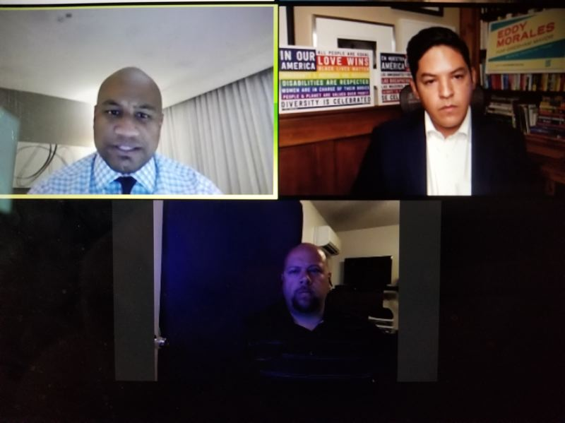 PMG PHOTO - Three of the candidates for Gresham mayor joined an online issues forum.