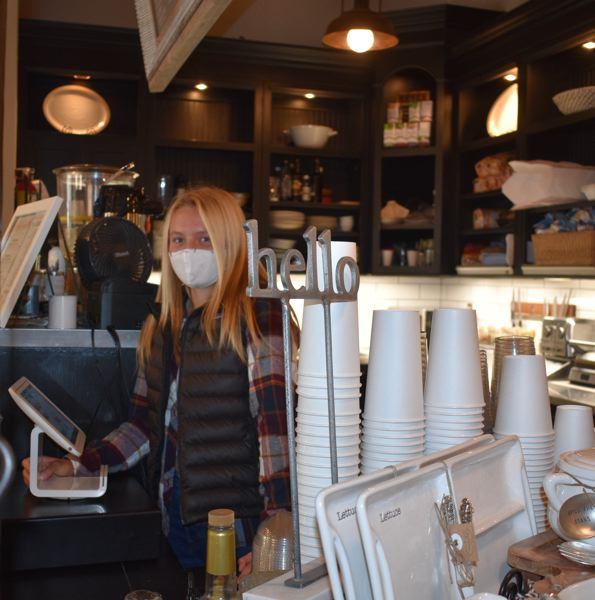 PMG PHOTO: TERESA CARSON - Greenslade also works part-time in the coffee bar at Celebrate Me Home in Troutdale, which is owned by her mom. Mary.