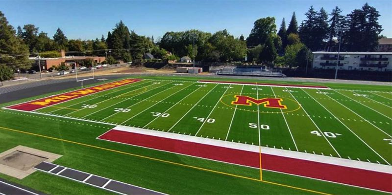 COURTESY PHOTO: OSAATODAY - Milwaukie teams can return to their home stadium after two years of playing at Alder Creek Middle School. Modular classrooms occupied the football field while Milwaukie High School was rebuilt.