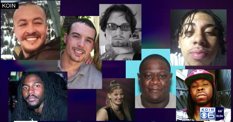 COURTESY PHOTO: KOIN 6 NEWS - Pictures of some of those who have been shot and killed since the Gun Violence Reduction Team was disbanded.
