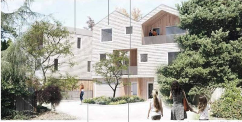 SCREENSHOT - This is a design of the proposed development in the Old Town neighborhood.