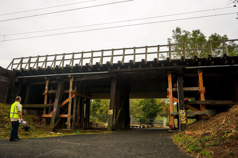 COURTESY PHOTO: TRIMET - Repairs will be made to the Fairview Creek trestle this week.
