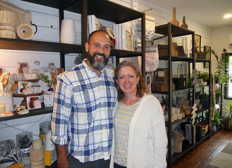 PMG PHOTO: SCOTT KEITH - Christy and Shane Goodwin's Cedar & Stone Home and Plant Shop in Sherwood features home decor, plants, baby items and much more.