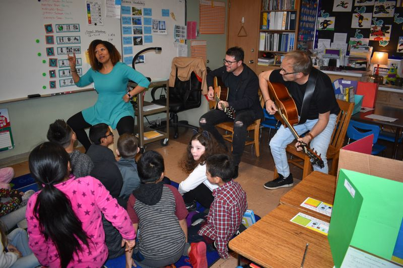 PMG FILE PHOTO - A few country music songwriters visited Parklane Elementary School in the Centennial School District last year and music teacher Katherine Cooper had them work with her music students. Centennial has managed to increase the diversity of their teaching staff. Many students of color can go through their entire school careers and never have a teacher that looks like them, but not the music students from Parklane.