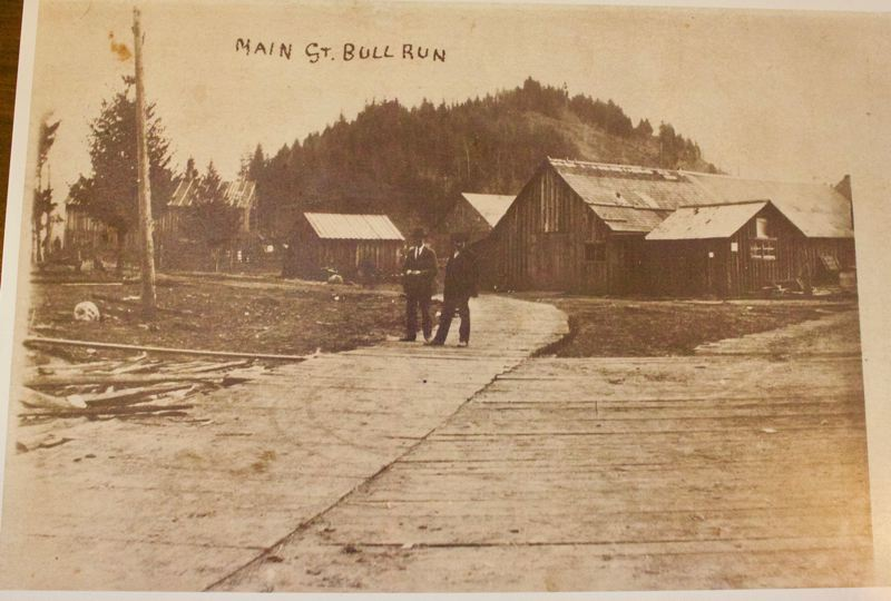 COURTESY PHOTO: GRESHAM HISTORICAL SOCIETY - The town of Bull Run Main Street in the early 1900s, which was located near the water reservoir.