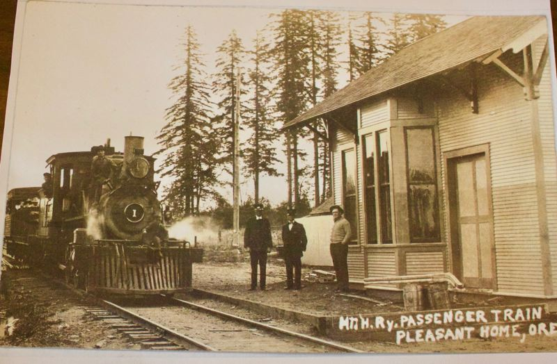 COURTESY PHOTO: GRESHAM HISTORICAL SOCIETY - An early photo of the steam engine line that linked Gresham and Bull Run.