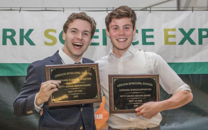 COURTESY PHOTO: HUDSON HALE - Ryan Westcott, left, and Hudson Hale created a candy business to aid in COVID-19 relief.