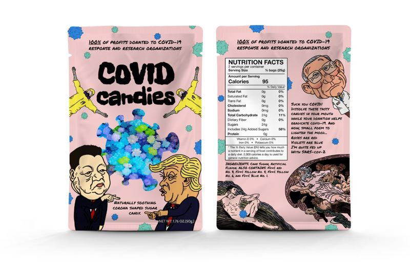 COURTESY PHOTO: HUDSON HALE - Hale designed the packaging for COVID CANDIES