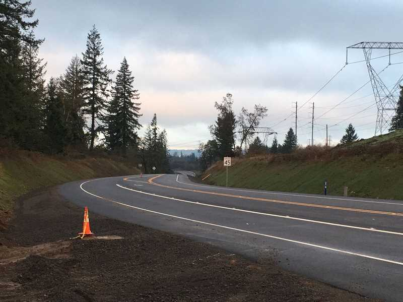 COURTESY PHOTO: WASHINGTON COUNTY LAND USE & DEVELOPMENT - After being shut down beginning Sept. 15, the 124th Avenue extension between Tualatin-Sherwood and Tonquin roads, has reopened.