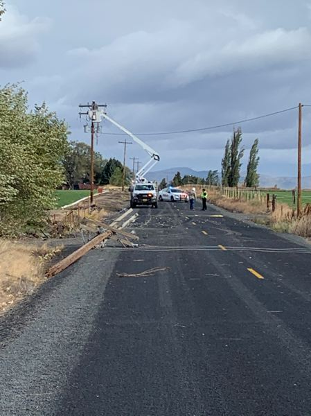 COURTESY PHOTO: JEFFERSON COUNTY SHERIFF'S OFFICE - A crash on Northwest Columbia Drive north of Madras Tuesday, Oct. 13, left a 20-year-old man dead and three others injured. A 17-year-old was arrested for DUII after investigation.