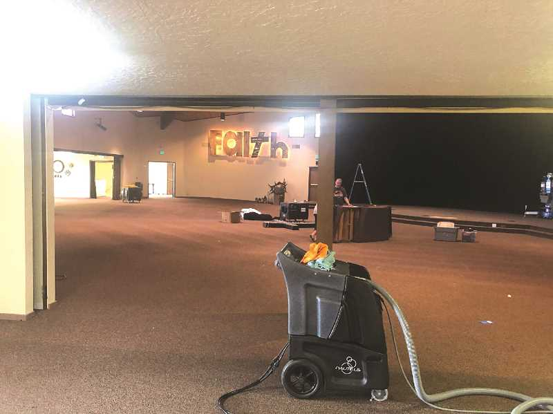 PMG PHOTO: SANDY STOREY - The cleaning and repair estimates continue as Molalla Nazarene Church suffered with smoke and ash issues in the aftermath of the recent wildfires.