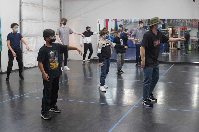COURTESY PHOTO: ENCORE PERFORMING ARTS CENTER - Students at Encore follow along during a dance class. The performing arts studio in Beaverton provides in-person and virtual classes during the pandemic.