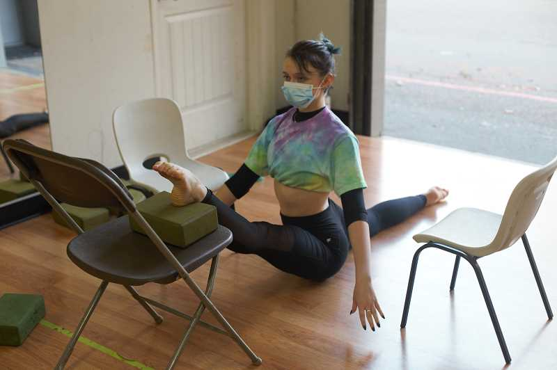 COURTESY PHOTO: ENCORE PERFORMING ARTS CENTER - When students enter Encores studio on 7700 S.W. Nimbus Ave. in Beaverton, they must pass a health screening and temperature check at the door. A mask is also required at all times.