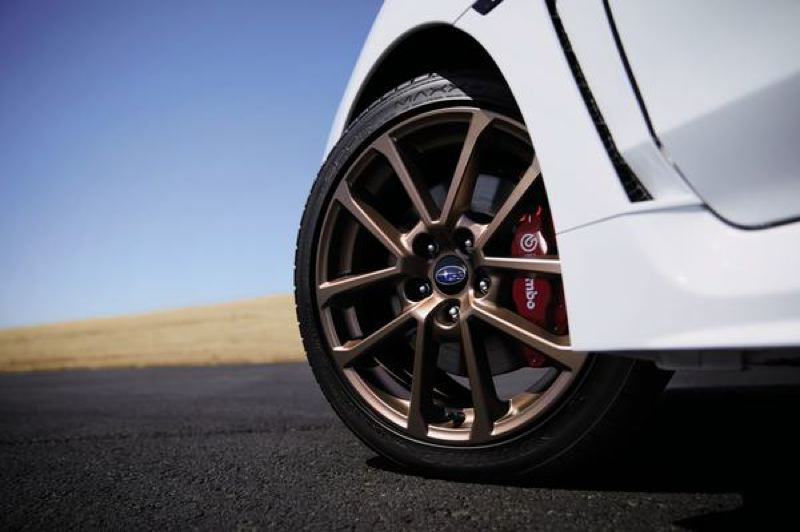 COURTESY SUBARU - Unique matt bronze wheels are part of the Series.White package on both the WRX and WRX STI.