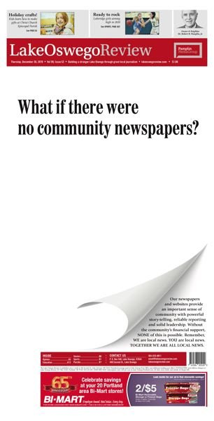 Second Place - Daily and Non-daily division - Best Newspaper Promotion - Save Local News Campaign - Dwayne Stowell and J. Brian Monihan