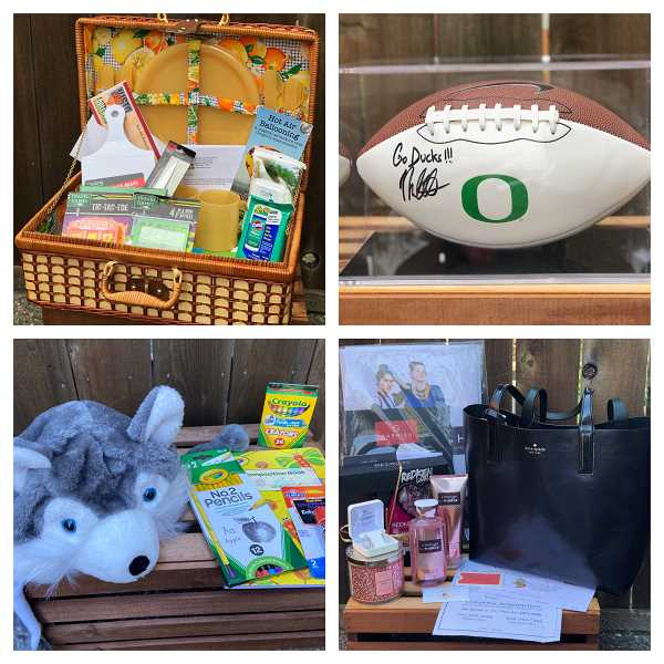 COURTESY OF GRANT WATTS PARENT ORGANIZATION - The Grant Watts Parent Organization auction includes dozens of baskets, gift certificates, and other goods.