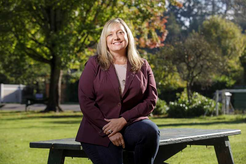 PMG PHOTO: JONATHAN HOUSE - Kari Johnsen, the executive director of Habitat for Humanity's North Willamette branch is running for West Linn City Council.