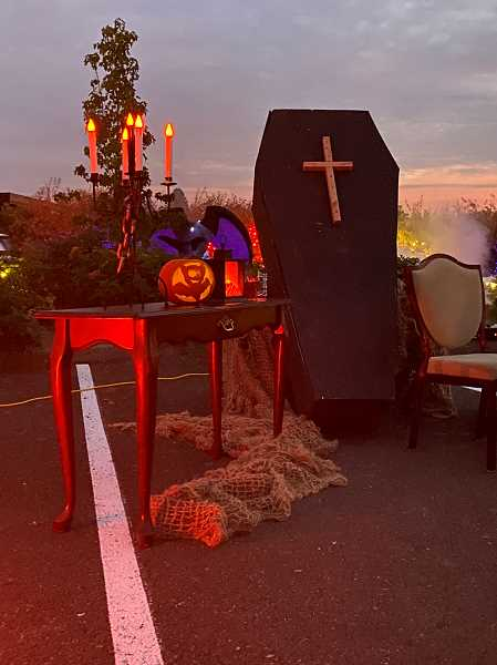 PMG PHOTO: HOLLY BARTHOLOMEW - The West Linn Parks and Recreation Department hosted the Boo Drive Thru Saturday, Oct. 17.