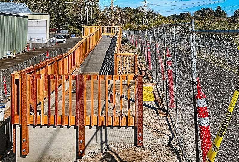 DAVID F. ASHTON - By mid-October, the Oaks Bottom Viewing Platform Project, on the Springwater Trail at Oaks Park, looked nearly completed.